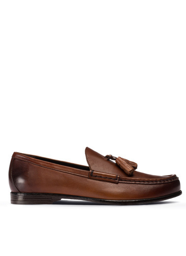 Deery Hakiki Deri  Ayakkabı Taba